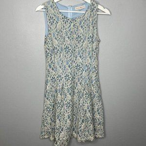 Altar'd State Blue Ivory Lace Dress